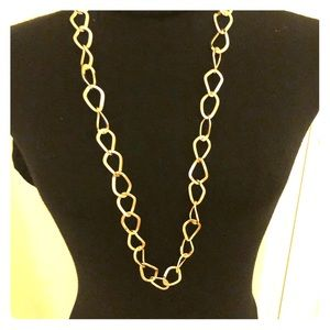 Gold tone Etienne Aigner chain necklace